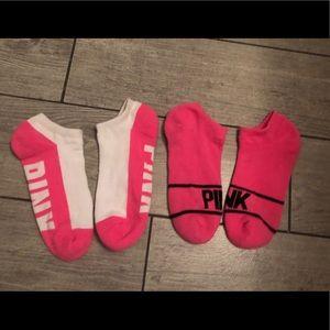 Pink Victoria's Secret 2 pairs of low cut socks